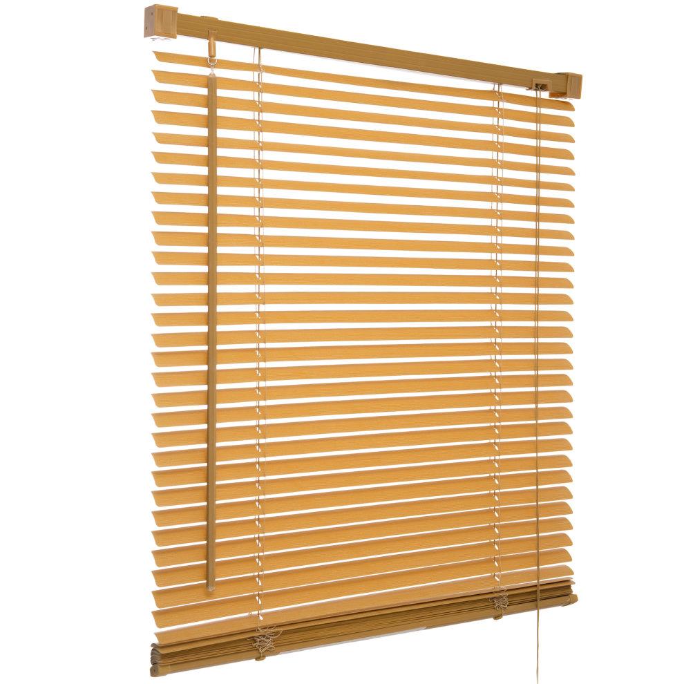 2ft 60cm Teak PVC Venetian Blind Window