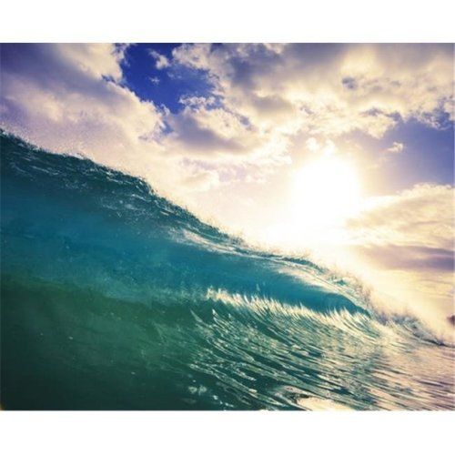 Posterazzi DPI12292186LARGE Breaking Ocean Wave Crashing Over Camera Poster Print by Design Pics Vibe, 30 x 24 - Large