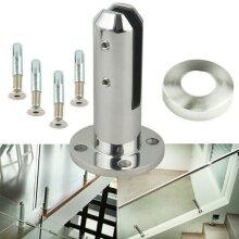 Round Standing Stairs Balcony Pool Glass Spigot Balustrade Railing Clamp Steel