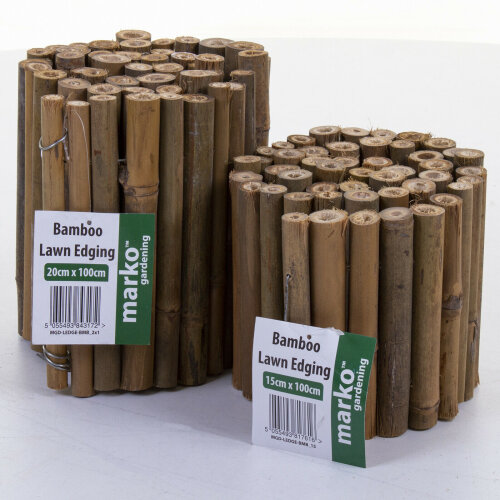 Bamboo Flexible Garden Lawn Edging Partition Border Edge Partitions Multi Size