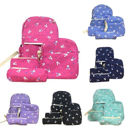 4pcs Girls Backpack Satchel Shoulders Bags Set