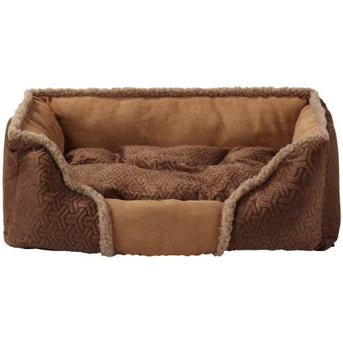 (Medium, Brown) Bunty Kensington Dog Bed | Fleece Pet Bed