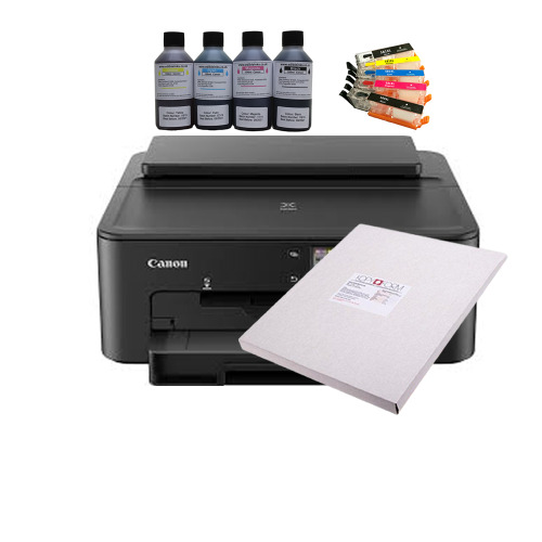Edible A4 Printer Bundle with Refillable Cartridges, Edible Ink & Icing Sheets.