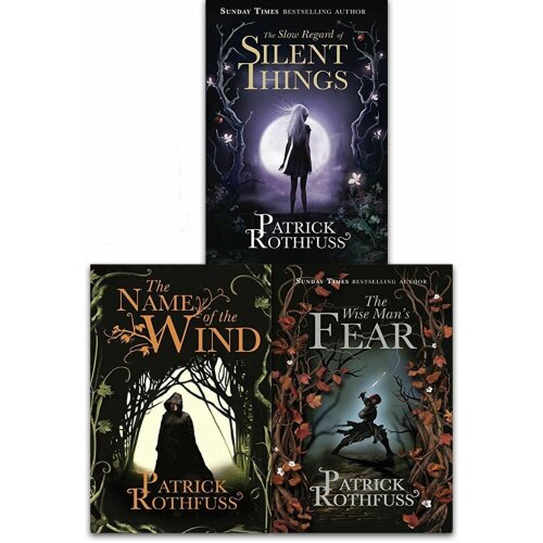 Patrick Rothfuss 3 Books Collection Set Kingkiller Chronicle