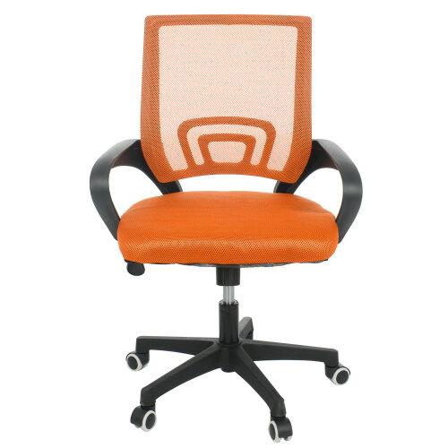 (Orange) Adjustable Mesh Office Chair Executive Swivel Computer Desk Chair Fabric Seat