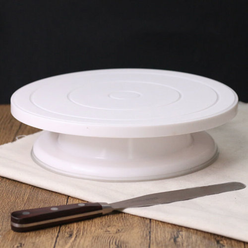 28CM ROTATING CAKE ICING DECORATING KITCHEN DISPLAY STAND TURNTABLE