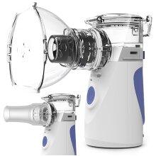 Mini Handheld / Portable Mesh Nebulizer - Silent, Ultrasonic Medical Steaming Inhaler