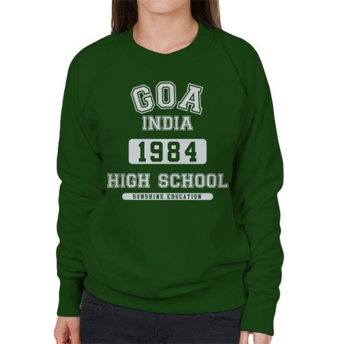 (Medium, Bottle Green) Goa India High School Women's Sweatshirt