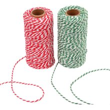 Sunmns Christmas Twine Cotton String Rope Cord for Gift Wrapping