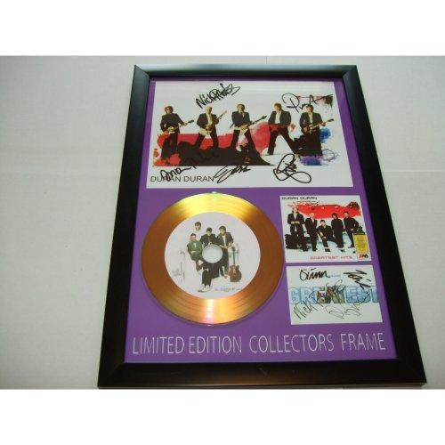 duran duran signed gold disc