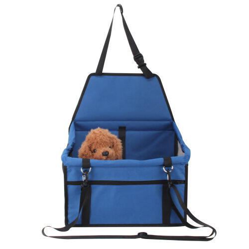 (Blue) Folding Pet Dog Car Seat Side Bag