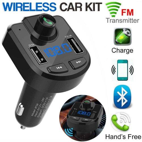 Wireless Bluetooth FM Transmitter For Car MP3 Player Radio 2 USB Port
