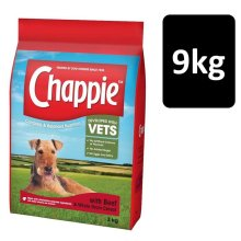 Chappie Dog Complete Dry Dog Food With Beef & Wholegrain Cereal 9kg (3x3kg Pack)