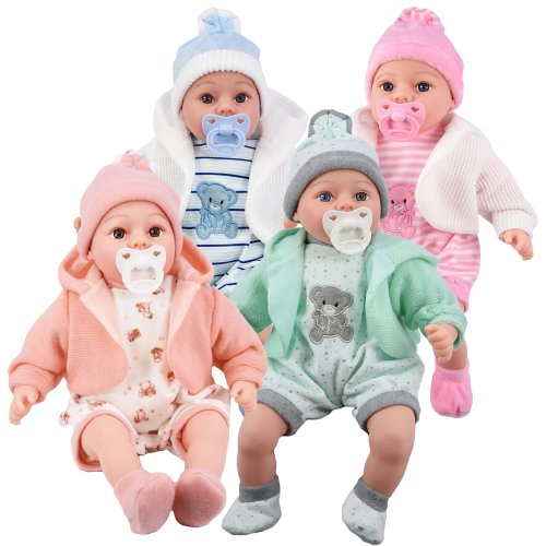 """The Magic Toy Shop 18"""" Lifelike Size Baby Doll With Dummy & Sounds"""