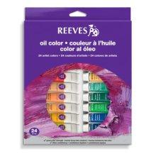 Reeves 24 Pack Oil Color Tube Set 10ml
