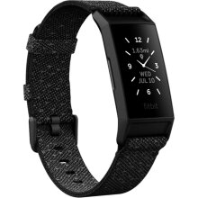 Fitbit Charge 4 Health & Fitness Tracker (Special Edition, Granite Reflective Woven)