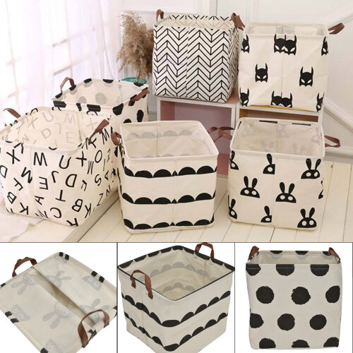 Foldable Square Canvas Storage Collapsible Box