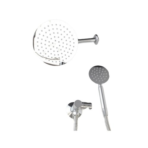 Kit complete with shower with shower head, hand shower and support for water intake