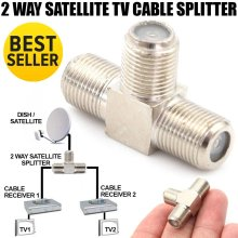 Coax Cable 2 Way Splitter Sky Virgin Media F Type TV Antenna Satellite