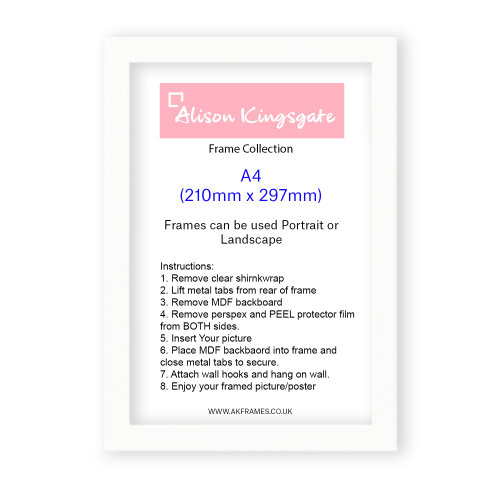 (NDS A4 WHITE) A1 A2 A3 A4 Black Picture Frame White Photo Frame