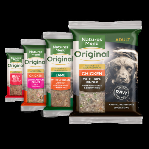 (Multi Flavour, 3) Natures Menu Raw Frozen Original Meals for Dogs
