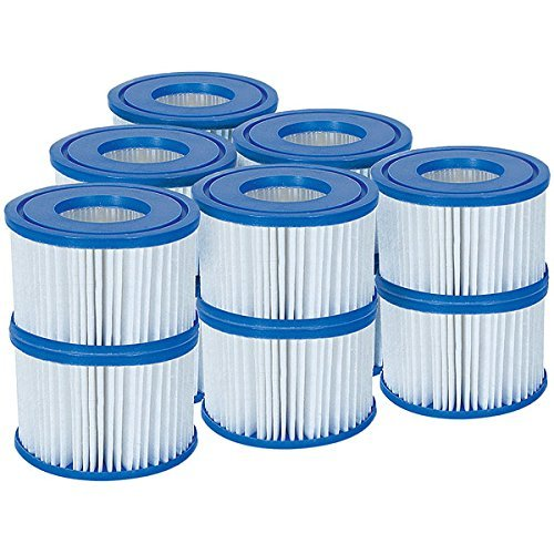 12 Pack Bestway 58323 Lay-Z-Spa Filter Cartridge, Size VI 10.6cm x 8cm