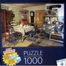 Old-Fashioned Kitchen, 1000 Piece Foam Backed Jigsaw Puzzle Made by Wrebbit