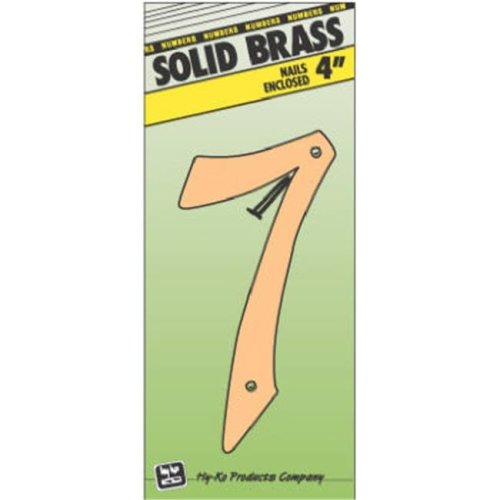 Hy-Ko Products BR-40-7 4 in. Brass Number 7