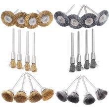 32Pcs Brass Steel Wire Brush Polishing Wheels Full Kit for Dremel Rotary Tool
