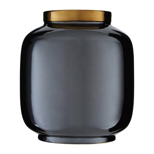 Premier housewares Stellar Black Porcelain Metallic Vase