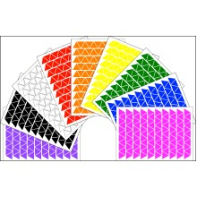 Triangle Shape Stickers 2 x A5 Craft Self Adhesive Peel Off