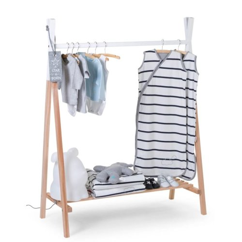 CHILDWOOD Tipi Clothes Rack Beech Natural and White CLSTIPI
