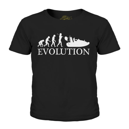 Candymix - Hovercraft Evolution Of Man - Unisex Kid's T-Shirt