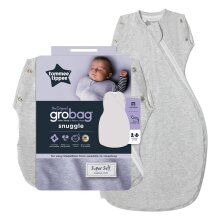 Tommee Tippee Baby Sleep Bag, The Original Grobag Snuggle, 0-4m, 2.5 Tog, Grey