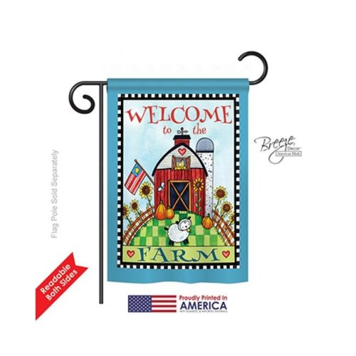 Breeze Decor 50063 Welcome Down on the Farm 2-Sided Impression Garden Flag - 13 x 18.5 in.