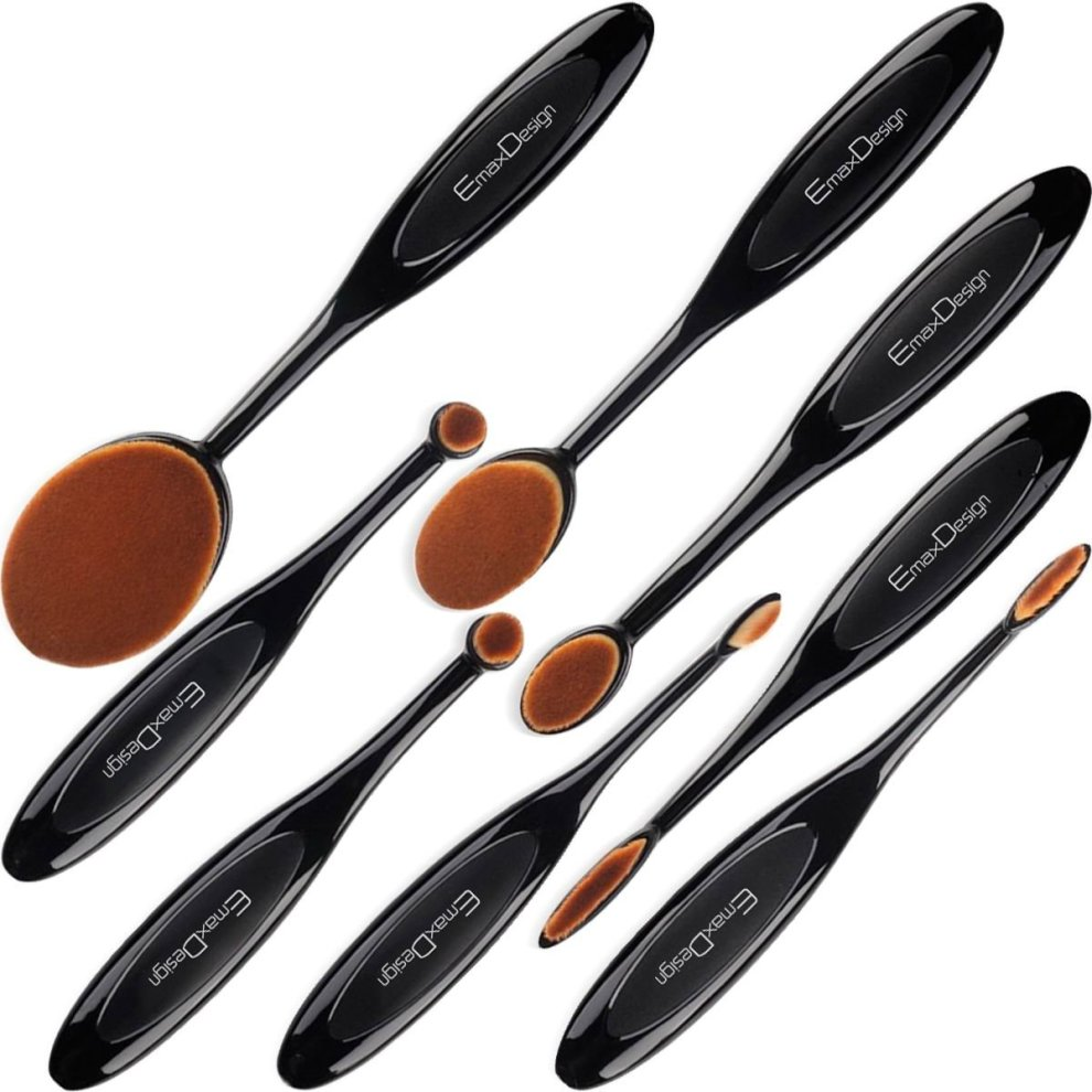 EmaxDesign Professional 8 pc Oval Makeup Brush Set on OnBuy