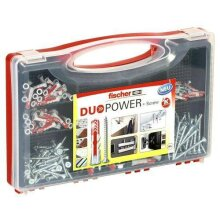 Fischer 536091 Red-Box Duopower Mixed Wall Plugs With Screws 280 PCS