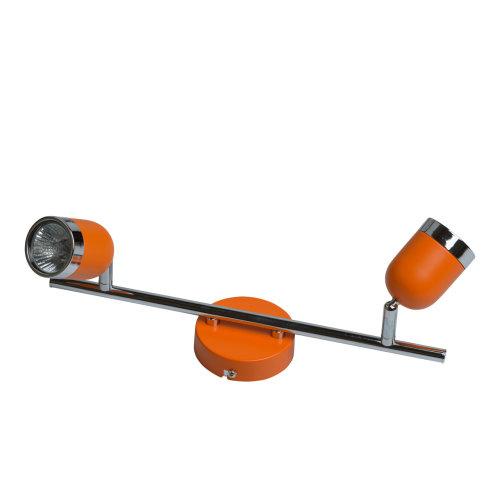 De Markt Techno 546021002 Orange-Chrome Color Metal Bulbs Included 2*35W GU10