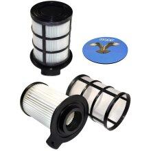 HQRP 2-pack Central HEPA Filter for Vax VEC-04 VEC-41 Essentials Cylinder Vacuum Cleaner VEC04 VEC41 + HQRP Coaster