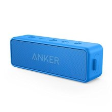 Anker SoundCore 2 Bluetooth Speaker with Better Bass, 24-Hour Playtime, 66ft Bluetooth Range, IPX5 Water Resistance & Built-in Mic — Dual-Driver...