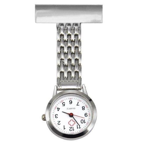 TRIXES Nurse Steel Fob Watch Silver