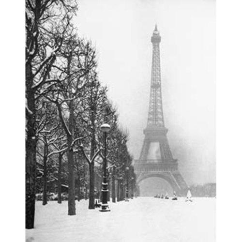 "Poster - Studio B - Paris in Snow 16""x20"" Wall Art P7203"