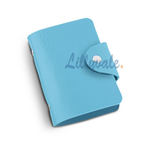 PU Leather Credit ID Business Card Holder- Light Blue