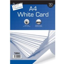 Just Stationery 30 Sheet A4 White Card -  white a4 30 card sheet sheets just stationery new plain paper printer pack