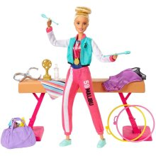 Barbie GJM72 Gymnast Doll & Playset With Accessories