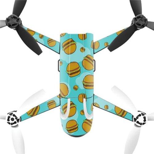 MightySkins PABEBOP2-Burger Heaven Skin Decal Wrap for Parrot Bebop 2 Quadcopter Drone - Burger Heaven