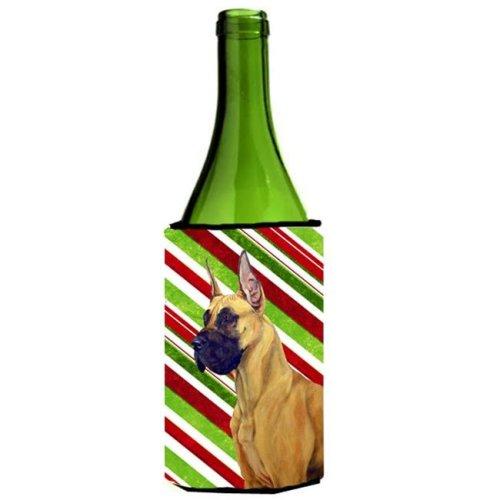 Great Dane Candy Cane Holiday Christmas Wine bottle sleeve Hugger - 24 oz.