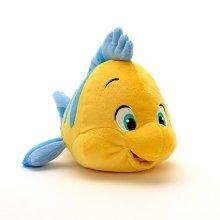 "Disney Little Mermaid Flounder Small Soft Plush Toy 11"""