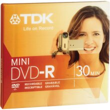 Mini DVD-R Blank, 2X 1.4 GB, 8cm