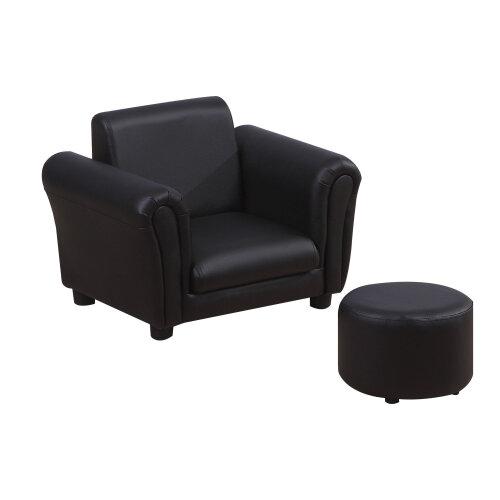 HOMCOM Kids Sofa Chair Set Armchair Seating Seat Bedroom Playroom Stool